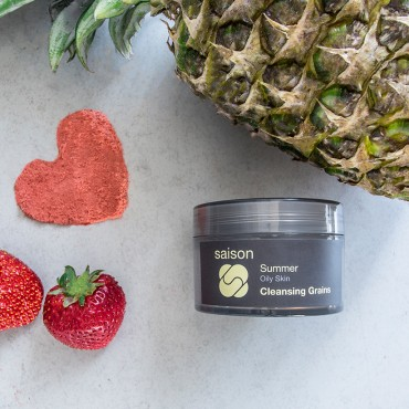Summer Exfoliation - Summer Cleansing Grains With Organic Strawberry and Pineapple