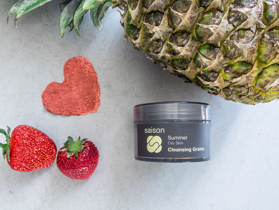 Summer Cleansing Grains - Exfoliate With Organic Strawberry and Pineapple
