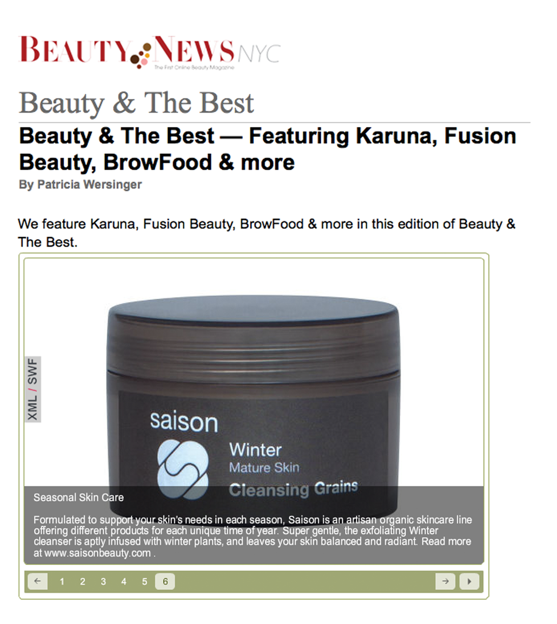 Saison In Beauty News NYC