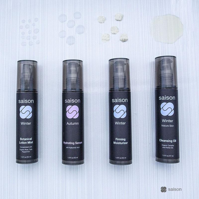 saison beauty organic skincare layering